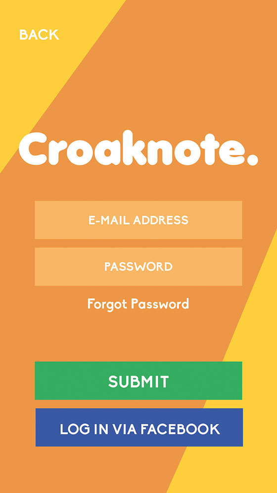 Croaknote Login